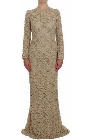 Dolce & Gabbana Floral Lace Sheath Maxi Dress