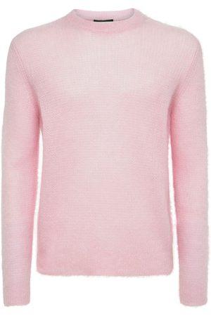 Prada Logo Mohair Blend Knit Sweater