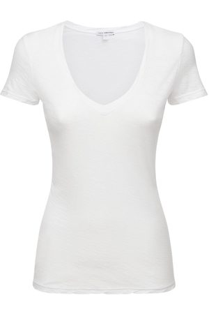 James Perse V Neck Casual Cotton Jersey T-shirt