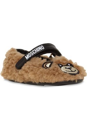 Moschino Embroidered Patch Teddy Ballerinas