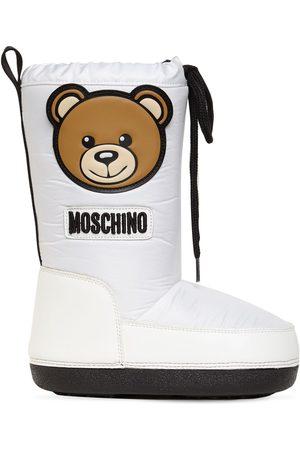 Moschino Teddy Bear Patch Nylon Snow Boots