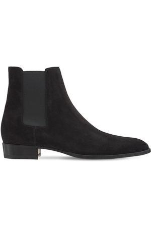 Saint Laurent Mænd Støvler - Mid Heel Leather Boots