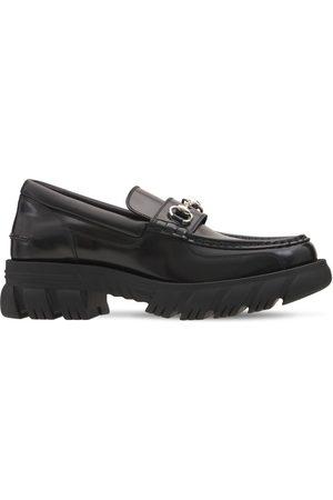Gucci Horsebit Leather Platform Loafers