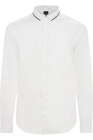 Armani Mænd Langærmede skjorter - Cotton Shirt