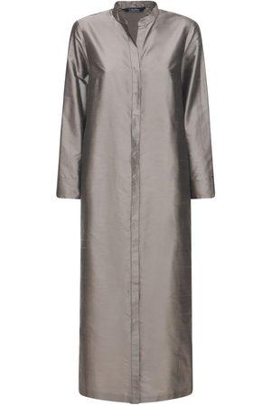 Max Mara Silk Shantung Long Dress