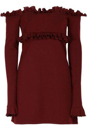 Giambattista Valli Off-the-shoulder Wool Blend Mini Dress