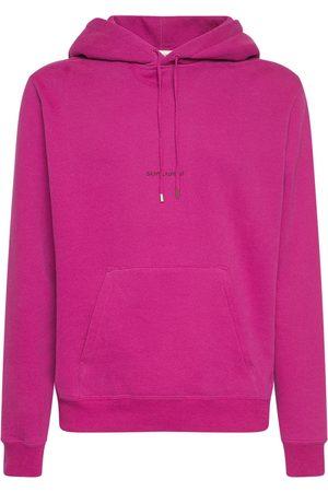 Saint Laurent Mænd Sweatshirts - Logo Cotton Sweatshirt Hoodie