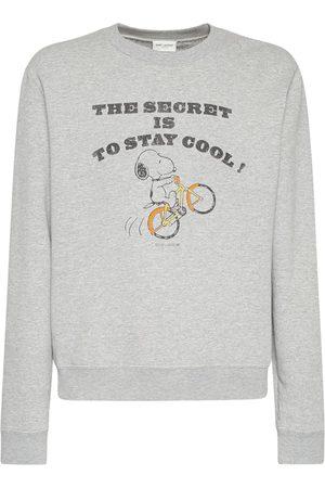 Saint Laurent Mænd Sweatshirts - Snoopy Print Cotton Sweatshirt