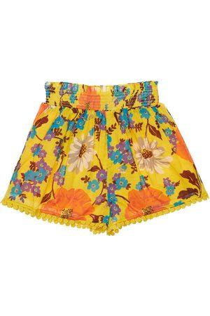 ZIMMERMANN Flower Print Cotton Shorts