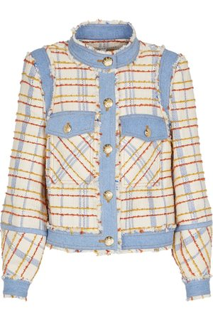 VERONICA BEARD Nilaja denim-trimmed tweed jacket