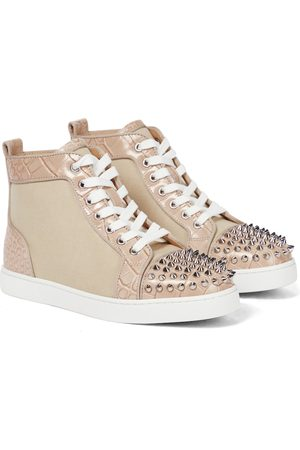 Christian Louboutin Lou Spikes canvas sneakers