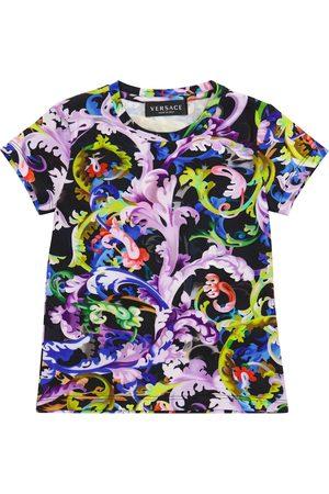 VERSACE Baroccoflage stretch-cotton T-shirt
