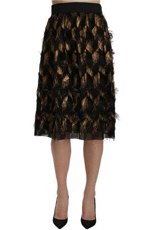 Dolce & Gabbana Fringe Pencil A-line Skirt