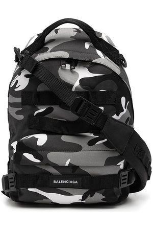 Balenciaga Rygsæk med logo og camouflage-tryk