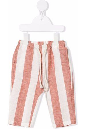 Zhoe & Tobiah Stribede bukser med snoretræk i taljen