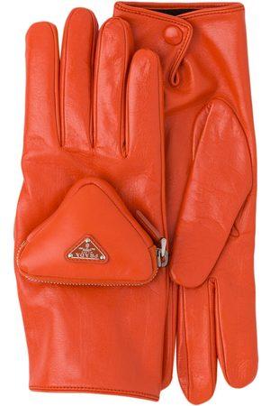 Prada Handsker med pungdetalje og logo
