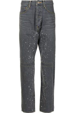 FACETASM Jeans med lige ben og tryk