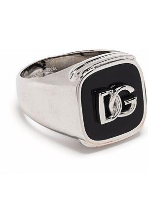 Dolce & Gabbana Mænd Ringe - Signetring med præget logo