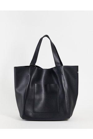ASOS Oversized tote-taske i imiteret læder med aftagelig pung