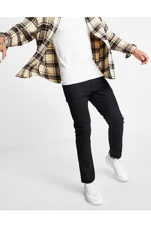 Topman Mænd Straight - Sorte jeans med lige ben