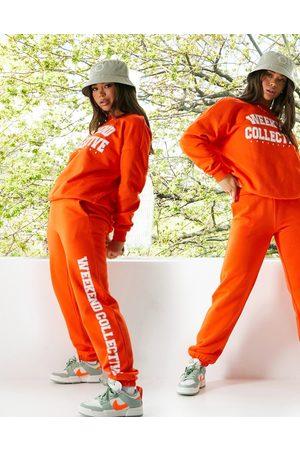 ASOS Oversized sweatshirt med college-print i