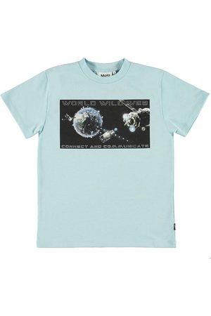 Molo Kortærmede - T-shirt - Roxo - Cool Blue m. Print