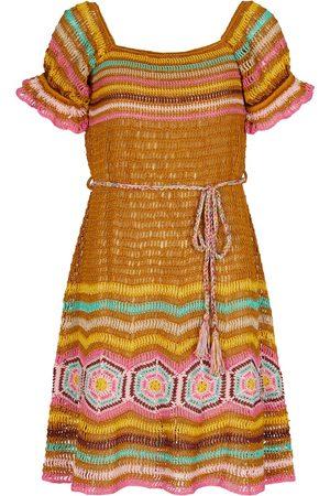 ANNA KOSTUROVA Lila crochet minidress