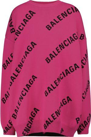 Balenciaga Logo wool-blend sweater