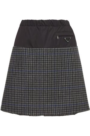 PRADA Wool Houndstooth Mini Skirt