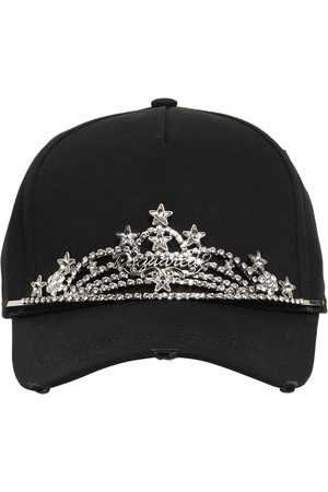 DSQUARED2 Holiday On Ice Cotton Cap W/jewels