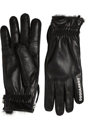 DSQUARED2 Nappa Leather Logo Gloves