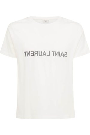 Saint Laurent Printed Cotton T-shirt
