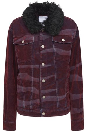 KOCHÉ Mænd Cowboyjakker - Sports Printed Denim Jacket
