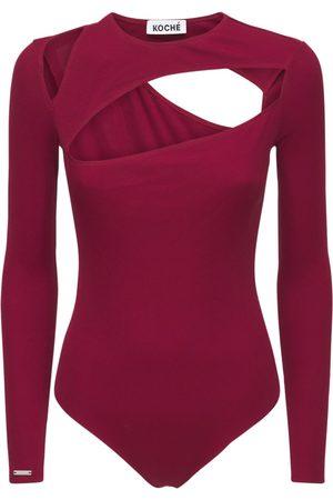 KOCHÉ Kvinder Bodies - Ribbed Jersey Body W/cut Out Details