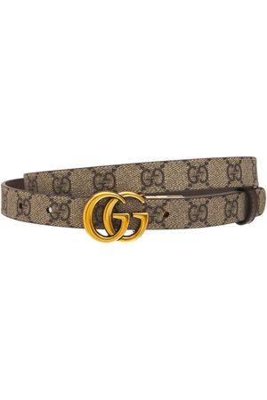 Gucci Kvinder Bælter - Gg Marmont Reversible Thin Leather Belt
