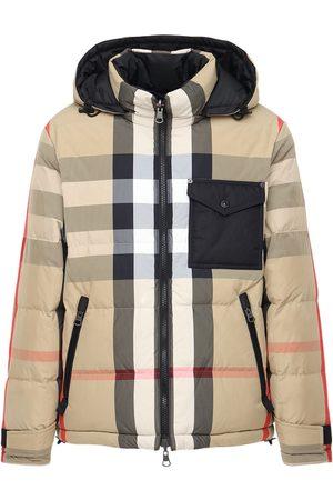 Burberry Rutland Check Print Tech Down Jacket