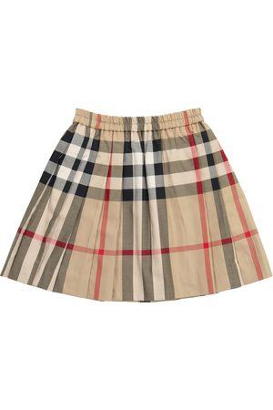 Burberry Checked stretch-cotton poplin skirt