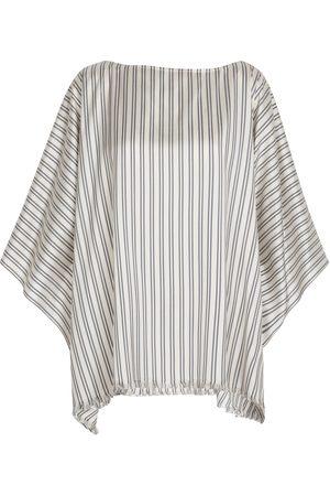Brunello Cucinelli Exclusive to Mytheresa – Striped silk poncho