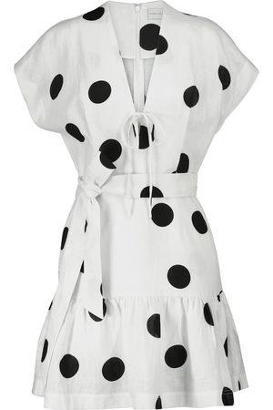 Rebecca Vallance Bonita polka-dot linen minidress