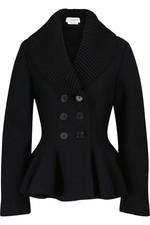 Alexander McQueen Wool-blend peplum jacket