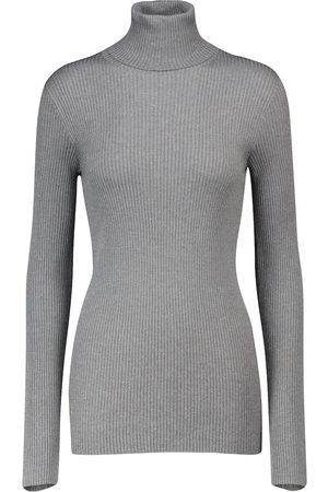 Brunello Cucinelli Kvinder Strik - Cashmere and silk-blend sweater