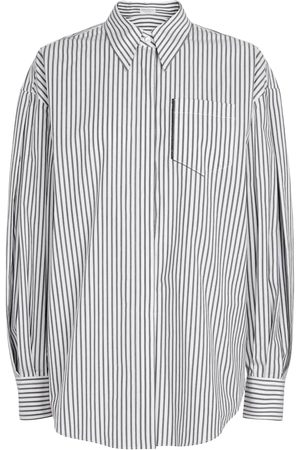 Brunello Cucinelli Kvinder Toppe - Exclusive to Mytheresa – Striped stretch-cotton shirt