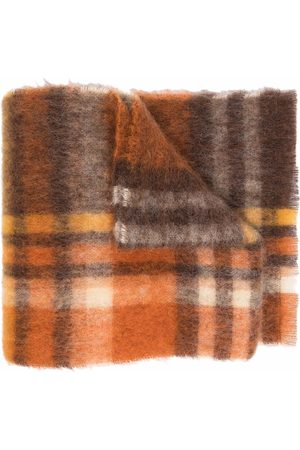 Acne Studios Tørklæder - Ternet striktørklæde