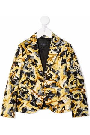 VERSACE Baby Blazere - Baroccoflage-print cotton blazer