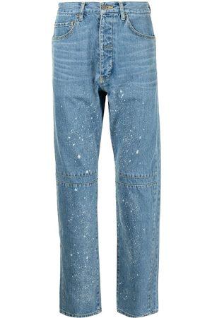 FACETASM Mænd Straight - Jeans med lige ben og slitageeffekt