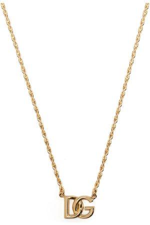 Dolce & Gabbana DG logo-plaque chain-link necklace