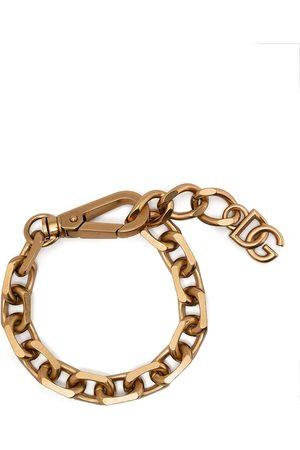 Dolce & Gabbana Mænd Armbånd - Logo-plaque chain-link bracelet
