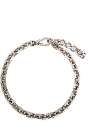 Dolce & Gabbana Mænd Halskæder - Chain-link logo-plaque necklace