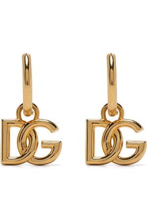 Dolce & Gabbana Mænd Øreringe - Logo-plaque hoop earrings