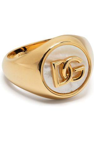 Dolce & Gabbana Mænd Ringe - Logo-plaque pearl-detail ring